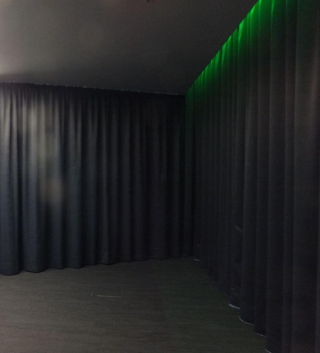 Theater Bühnenvorhangschienen motorisch, Raffvorhänge, Herstellung